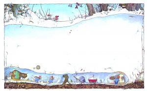 """Книга для дітей. Зимова історія Джилл Барклем. Серія """"Ожиновий живопліт"""""""